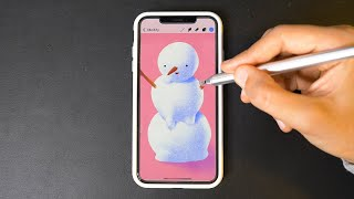 Drawing with Procreate on iPhone ⛄️
