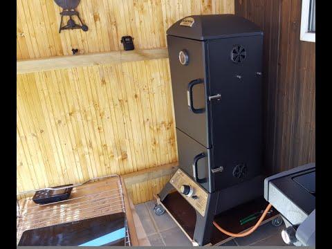 vorstellung broil king vertical gas smoker youtube. Black Bedroom Furniture Sets. Home Design Ideas