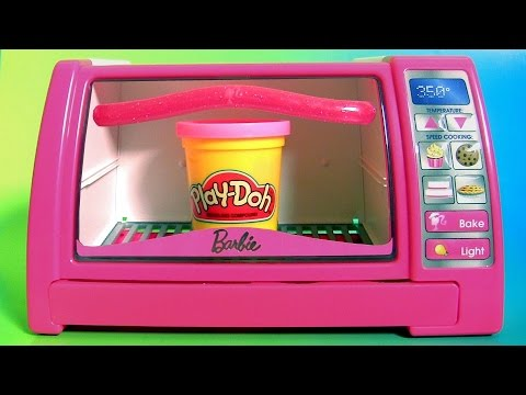 Pastry Chef Barbie Baking Oven Play Doh Surprises My Little Pony Peppa Shopkins Backpack Surprise