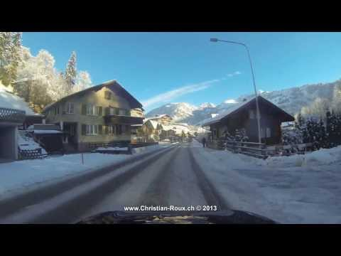 UHD/4K - Switzerland 260 (Camera on board): From Château d'Oex to Col du Jaun in Winter (Hero3)
