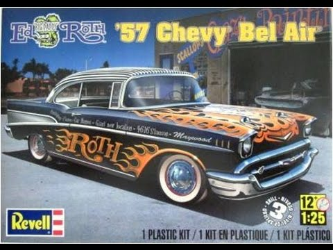 How to Build the Ed Roth 57 Chevy Bel Air 1:25 Scale Revell Model Kit #85-4306 Review