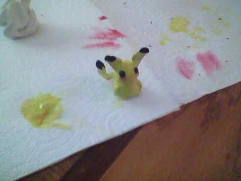 how to make pikachu with clay