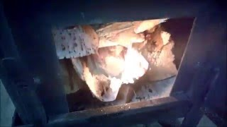 Печка буржуйка в гараже.(, 2015-12-19T19:22:08.000Z)