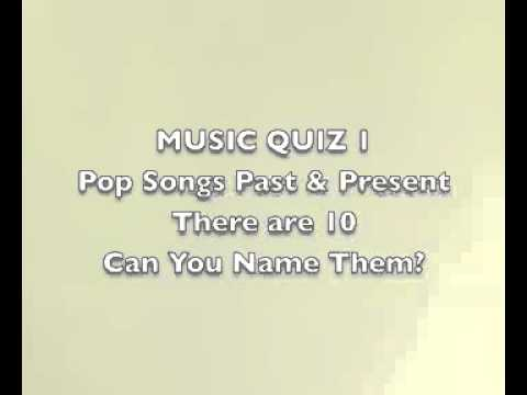 Music Quiz 1 - POP SONGS PAST AND PRESENT