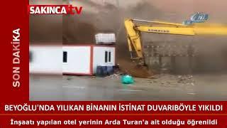 Beyoğlu'nda çöken Binanın Istinat Duvarı Böyle Yıkıldı