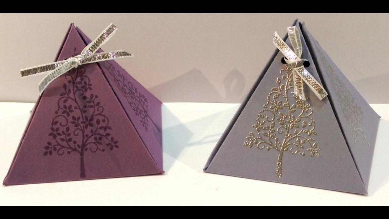 Bildergebnis für pyramiden box stampin up
