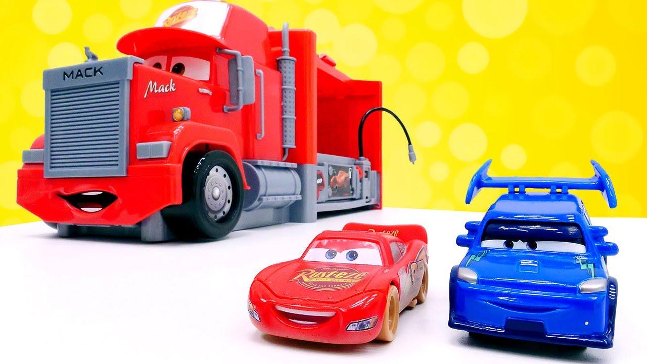 d ballage avec flash mcqueen vid o de voitures en fran ais pour les enfants youtube. Black Bedroom Furniture Sets. Home Design Ideas