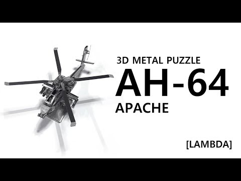 AH-64 Apache helicopter - 3D Metal Puzzle #6