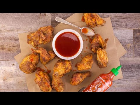 Michael Symon's Twice-Fried Chicken with Sriracha Honey
