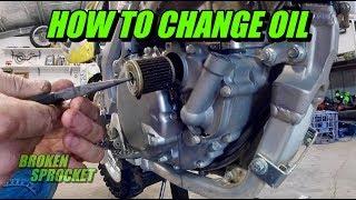 How to change oil on 4 stroke dirt bike Suzuki RMX450Z