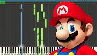 Super Mario. Пианино. Музыка из игры. Обучение. Уроки. Как играть.
