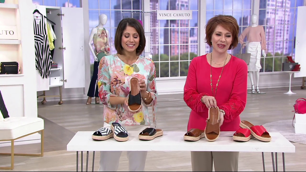 f182dfbb001 Vince Camuto Cross Band Espadrilles - Carran on QVC - YouTube
