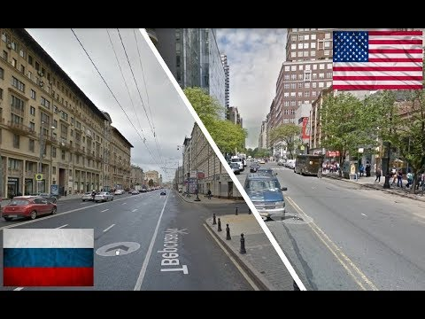 Смотреть Москва - Нью-Йорк. Сравнение. Россия и США. New York City - Moscow. USA - Russia. онлайн