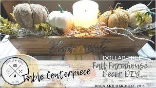 DOLLAR TREE DIY: FARMHOUSE FALL CENTERPIECE [Doug&Marie At Home]