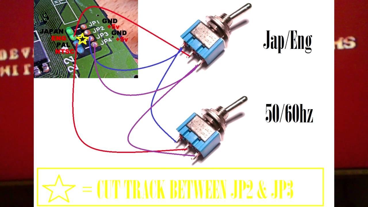 Sega Megadrive 1 Pal Mod Modification 60hz 50hz Japanese Japan Wiring Diagram English With Installation Youtube