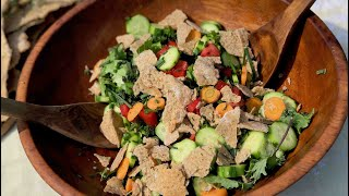 Fattoush Salad with Purslane - CulturedANDCured Quarantine Edition