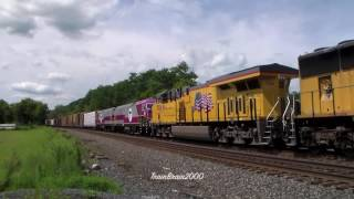 CSX Chicago Line Railfanning W/CSX Amtrak BNSF BN CN IC CEFX NS & 2 NS Heritage Units! 8.16.14