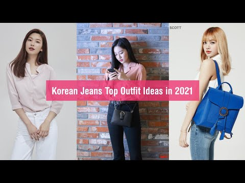 Korean Jeans And Tops Designs Idea For Girls 2021।Casual Wear Jeans t-shirt ।#Shorts #youtubeshorts