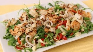 Grilled Shrimp & Calamari Salad Recipe - Laura Vitale - Laura In The Kitchen Episode 434