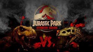 Jurassic Park Operation Genesis - Batalla Indominus Vs Rex Vs Spino 1