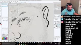 Tim Michael - How to ink in Clip Studio using the GPEN