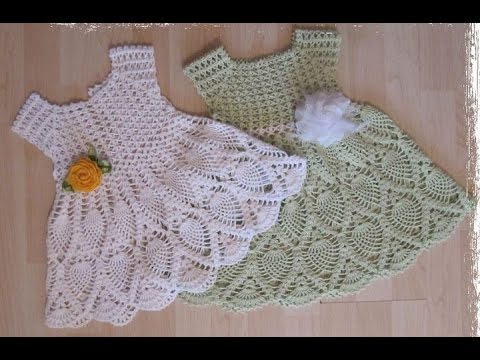 Crochet Patterns| for free |crochet baby dress| 9
