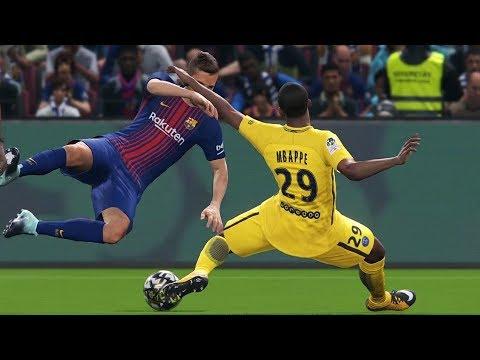 PES 2018 - FC Barcelona vs PSG - Gameplay (PS4 HD) [1080p60FPS]