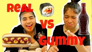 Real Food VS  Gummy Food! Super Fun
