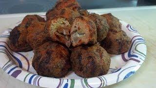 Buffalo Meatballs Stuffed With Blue Cheese