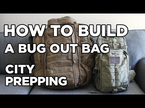 How to build a Bug out Bag (aka B.O.B.)
