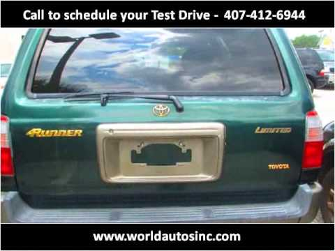 2000 toyota 4runner used cars orlando fl youtube. Black Bedroom Furniture Sets. Home Design Ideas