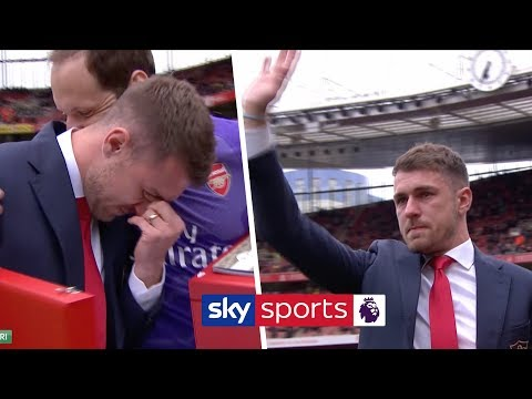 Aaron Ramsey bids an emotional farewell to Arsenal after 11 years at the club