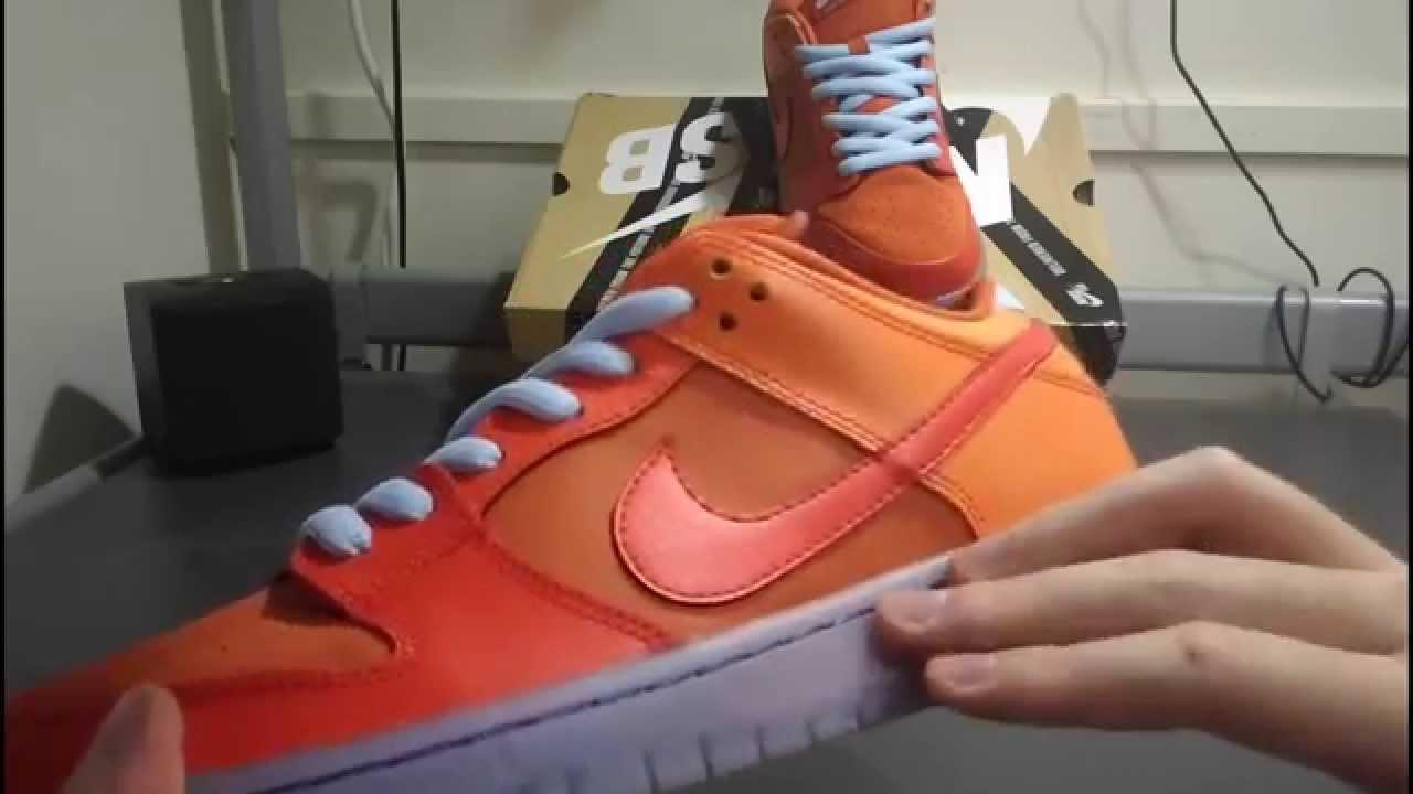 sports shoes 135ee f12a0 開箱 Nike Dunk Low Pro SB-Gamma Orange (Fire   Ice)