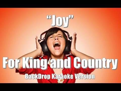 "For King and Country ""Joy"" BackDrop Christian Karaoke"