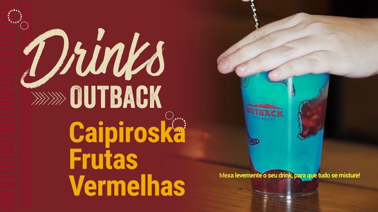 Drinks Outback | Aussie Caipiroska Frutas Vermelhas