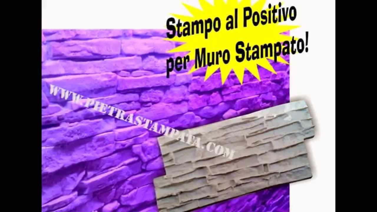 Stampo per muro stampato intonaco stampato - YouTube