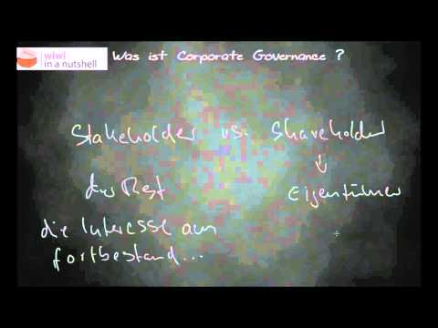 Was ist Corporate Governance ?
