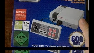 CoolBaby Mini Nes 600 Games hdmi Unboxing TEAR DOWN disassembly