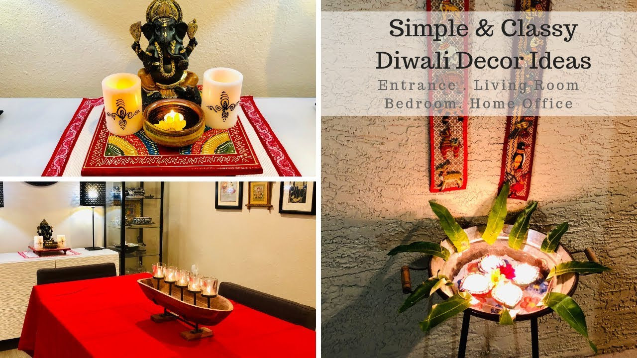 Diwali Decoration Ideas Home Entrance And Living Room Simple Last Minute Diy Diwali Decor Ideas
