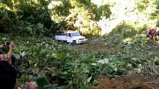 Bolero pickup accident at near Lorging Ralung village.
