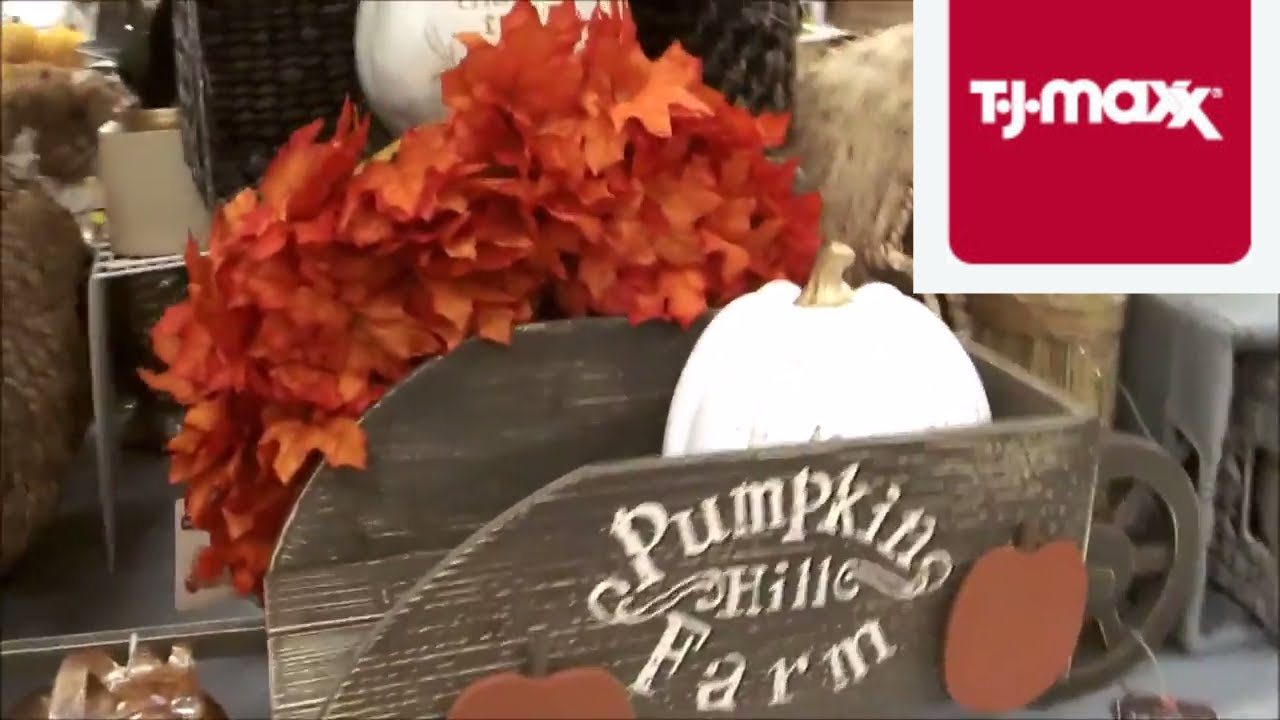 TJ Maxx FALL & Halloween Decor Shop with ME!