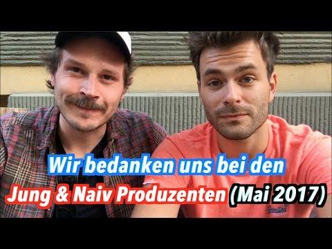 Hurra, 100.000 Abonnenten! Wir bedanken uns bei den aktuellen Jung & Naiv-Produzenten (Mai 2017)