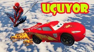 Süper Şimşek ve Örümcek Arabalarla Gökyüzü Rampasında (GTA 5 Komik Anlar)