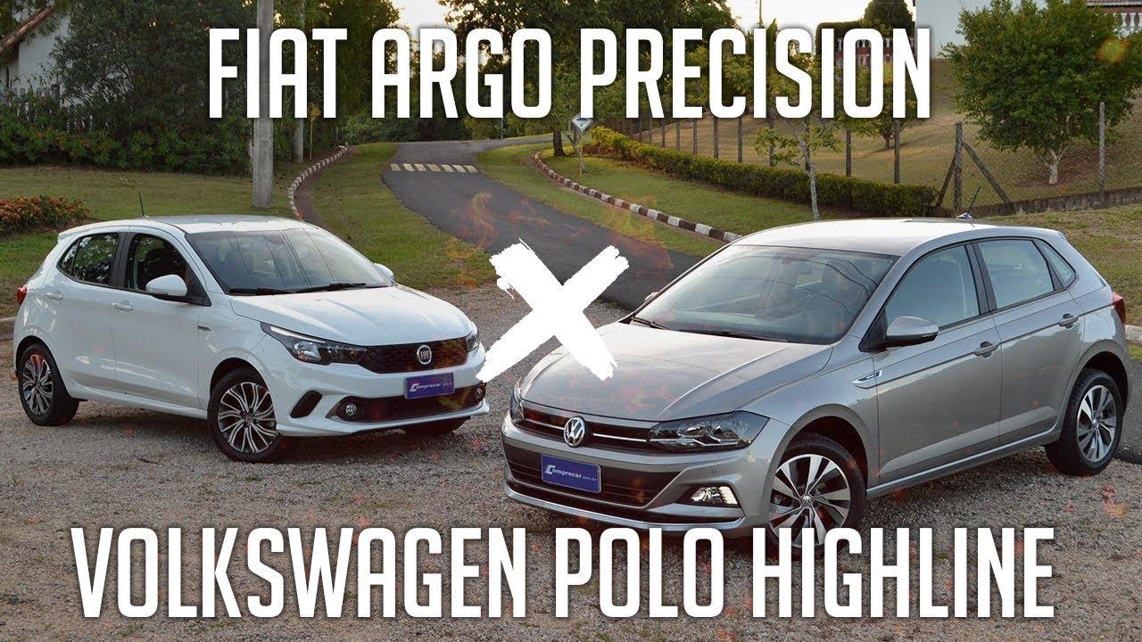 Comparativo  Fiat Argo Precision X Volkswagen Polo