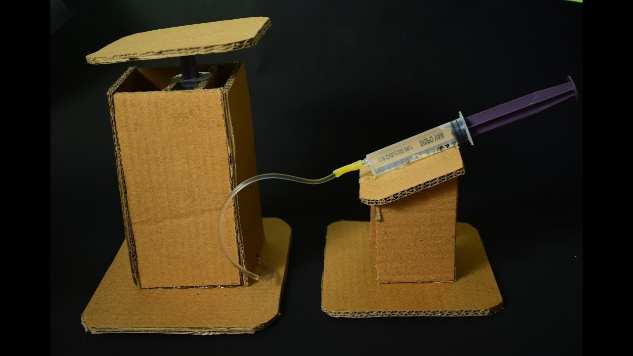 Cardboard Hydraulic Ar : How to make hydraulic lift from cardboard very simple