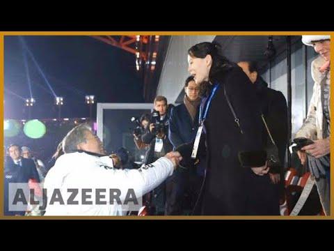 🇰🇵 🇰🇷 Historic handshake kicks off Pyeongchang Olympics