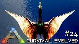 ark survival evolved quetzalcoatlus taming tips season 3 s3 e24 gameplay