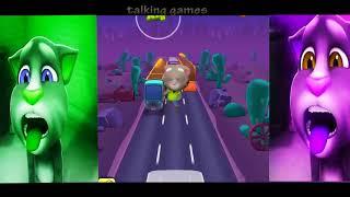 Talking Tom Gold Run Gameplay For Children colors Tom