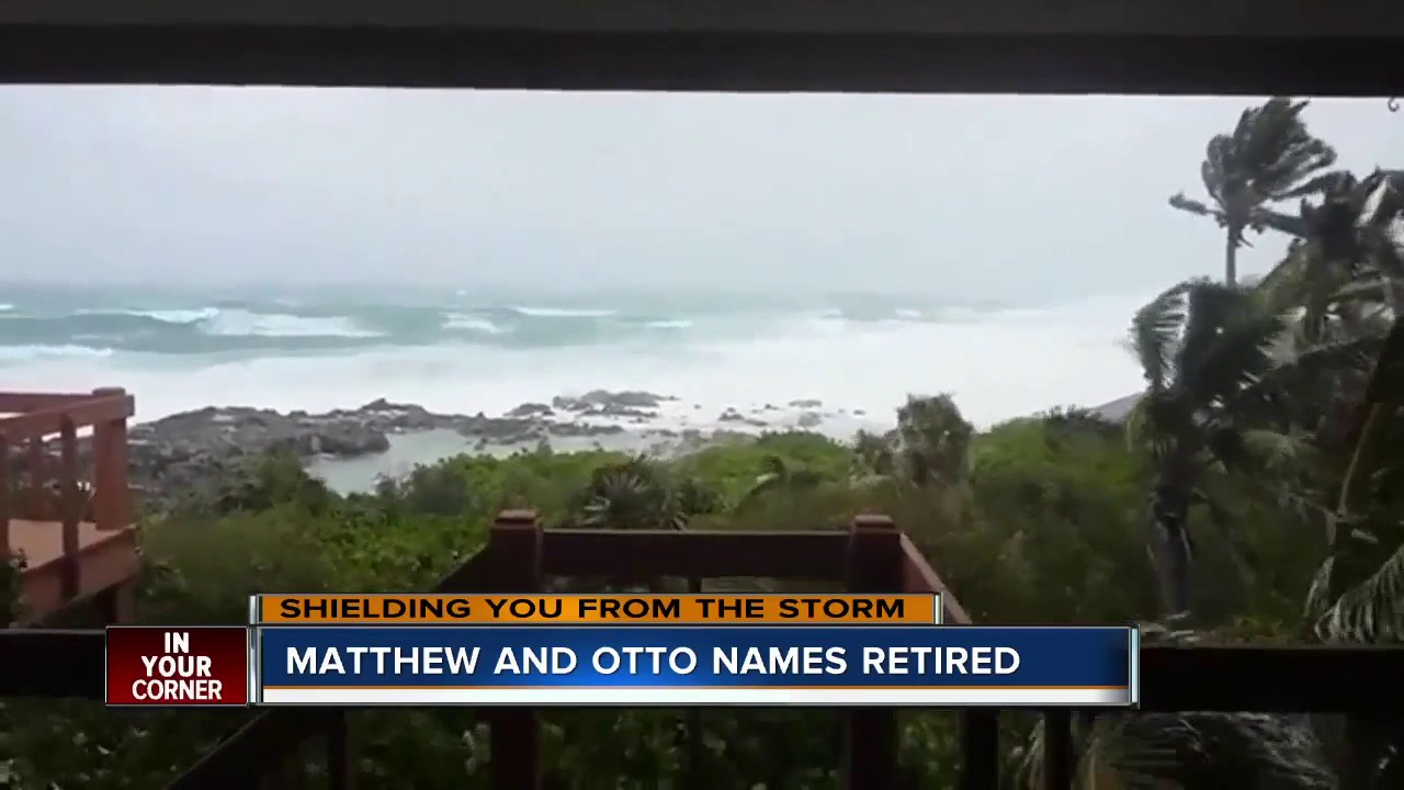 hurricanes matthew and otto retired as atlantic tropical