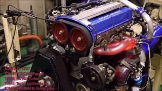 三菱 ランサーエボリューション 4G63エンジン テスト風景